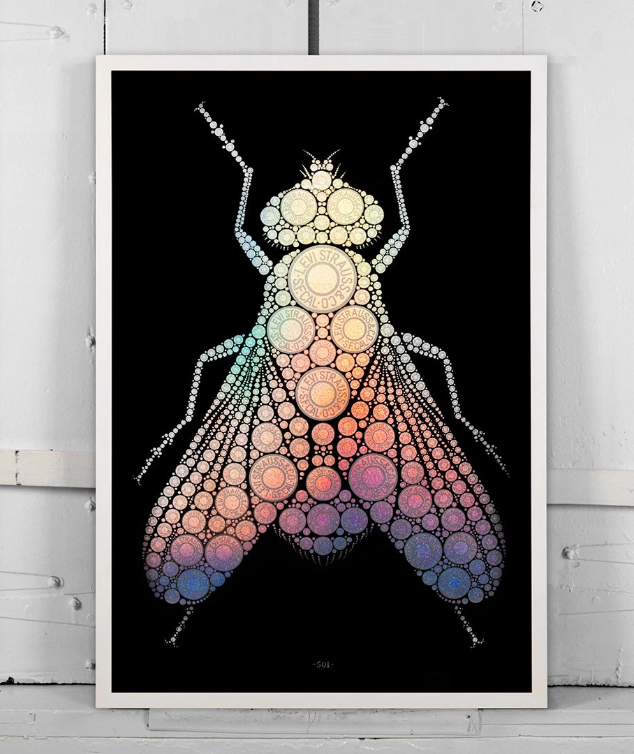 Levi's Button Fly Poster